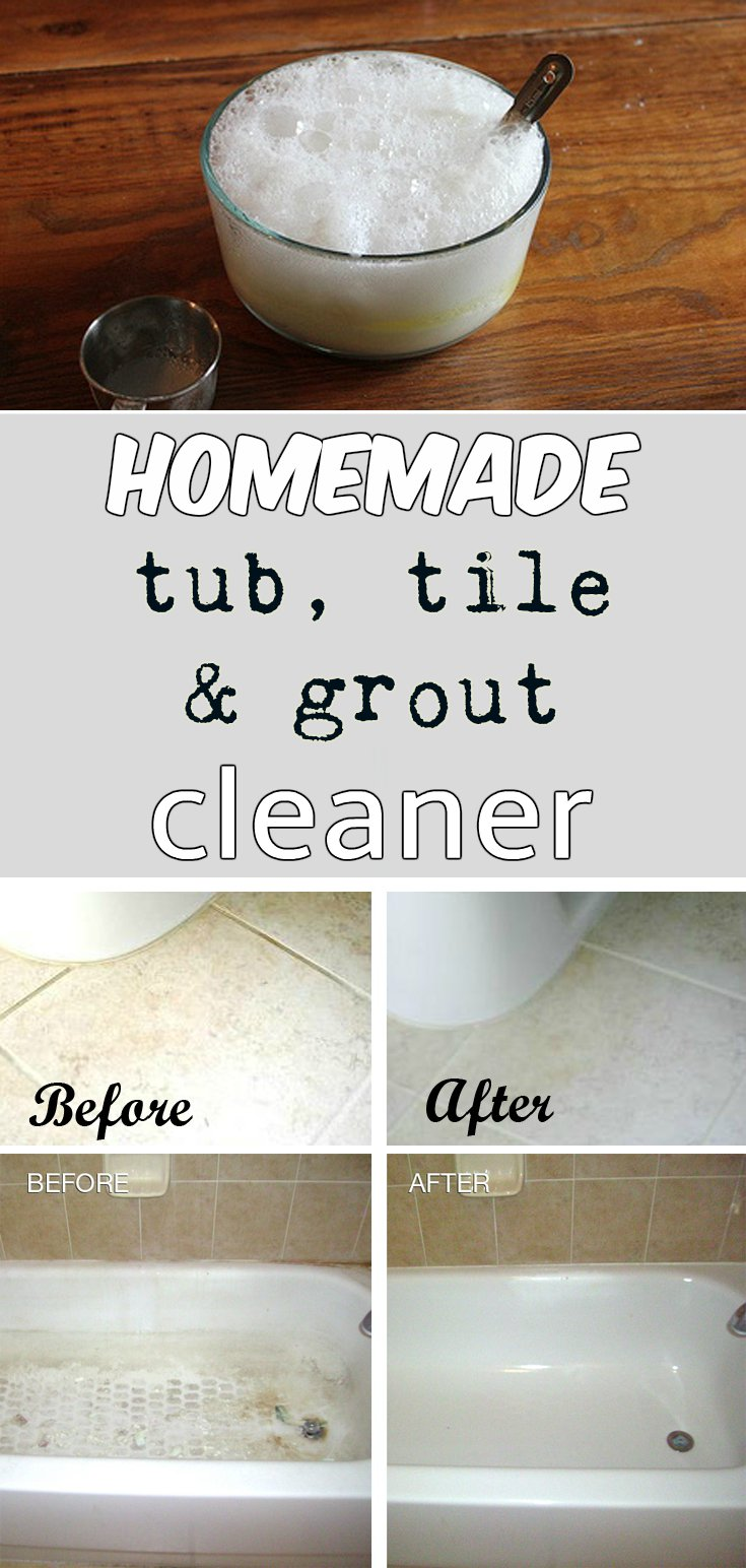 Homemade Tub Tile And Grout Cleaner MyCleaningSolutionscom - Bathroom tiles cleaning products