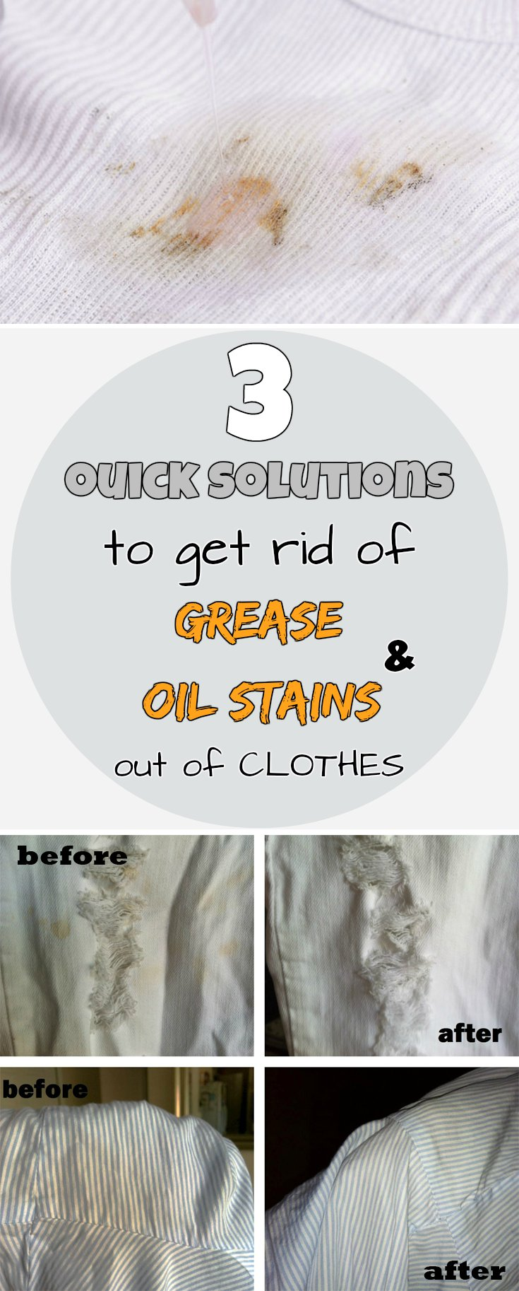 3 quick solutions to get rid of grease and oil stains out of clothes - Coffee stains oil stains get rid easily ...