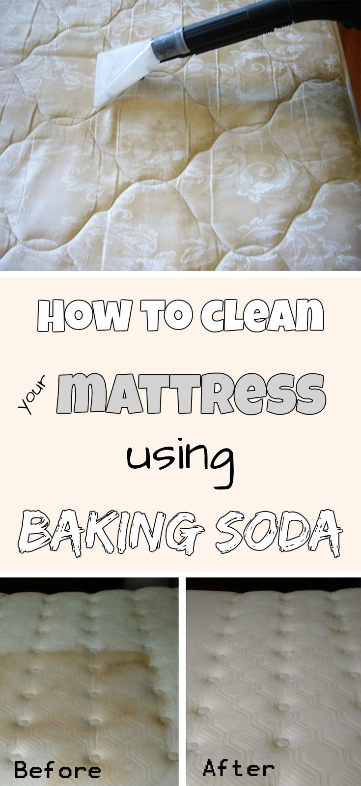 Car Wash Vacuum Cleaner >> How to clean your mattress using baking soda - myCleaningSolutions.com