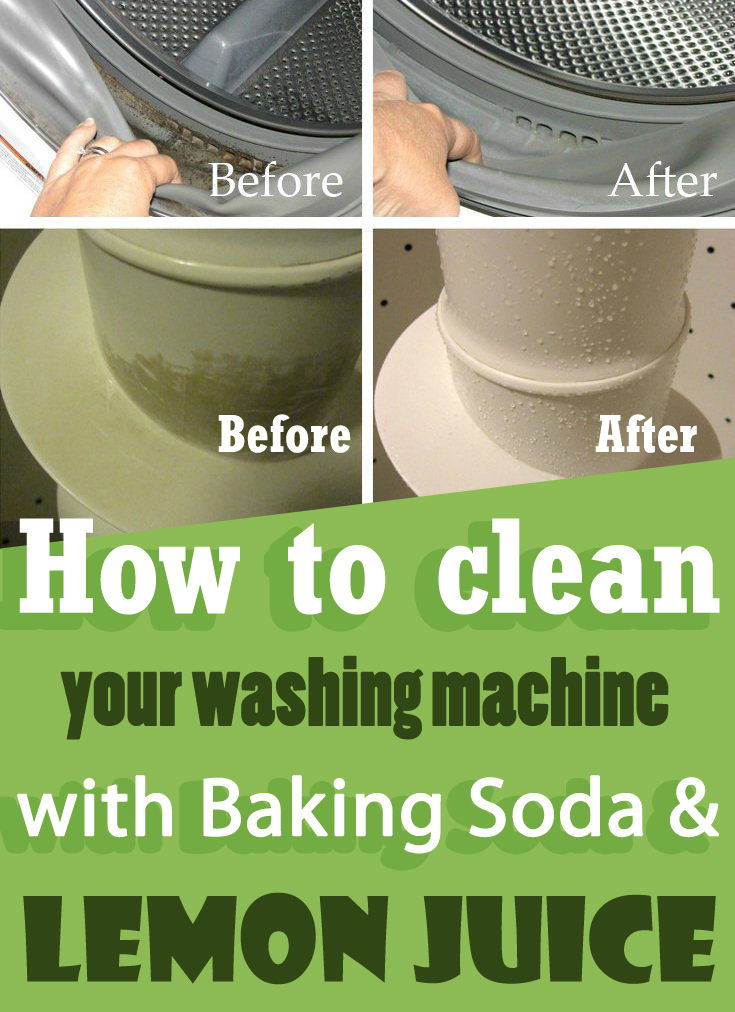 How to clean your washing machine with baking soda and lemon juice -  myCleaningSolutions.com