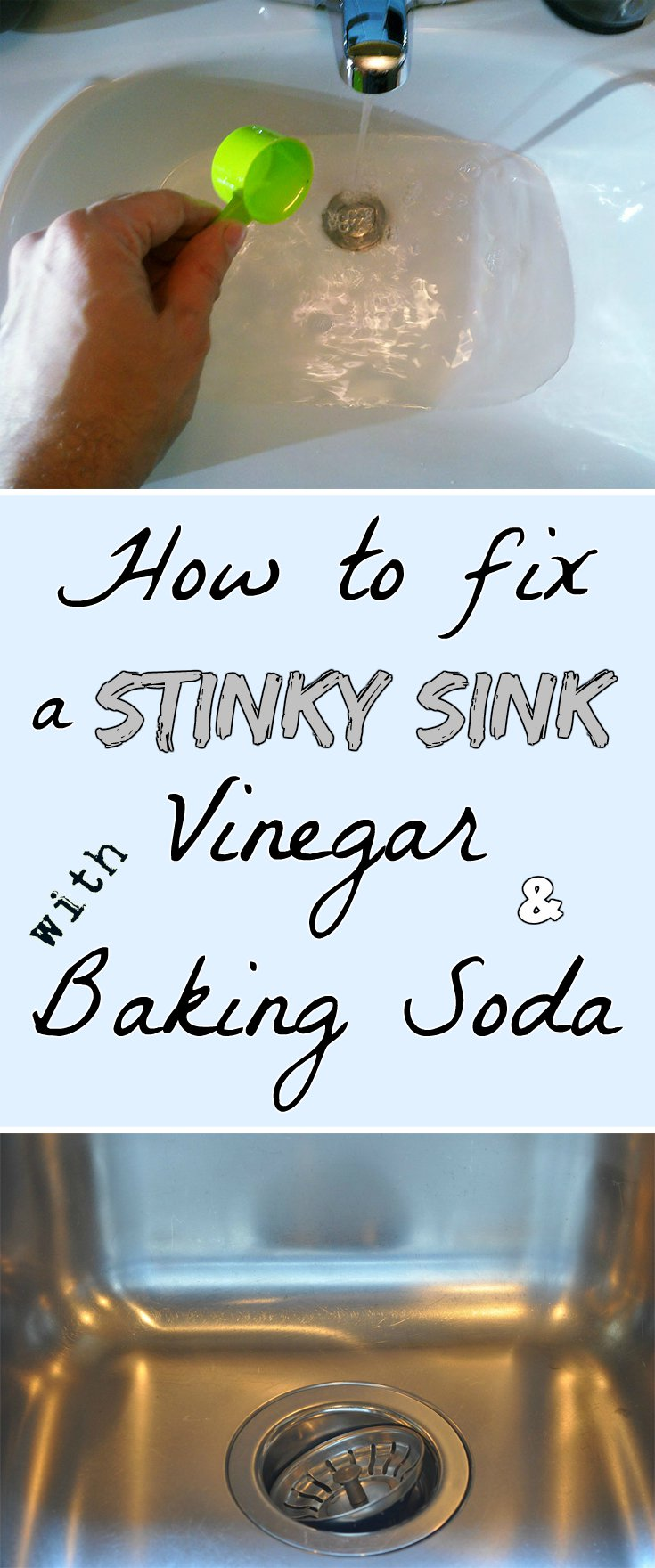 How To Fix A Stinky Sink With Vinegar And Baking Soda
