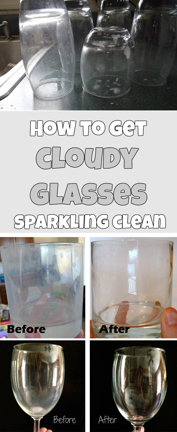 How To Get Cloudy Glasses Sparkling Clean