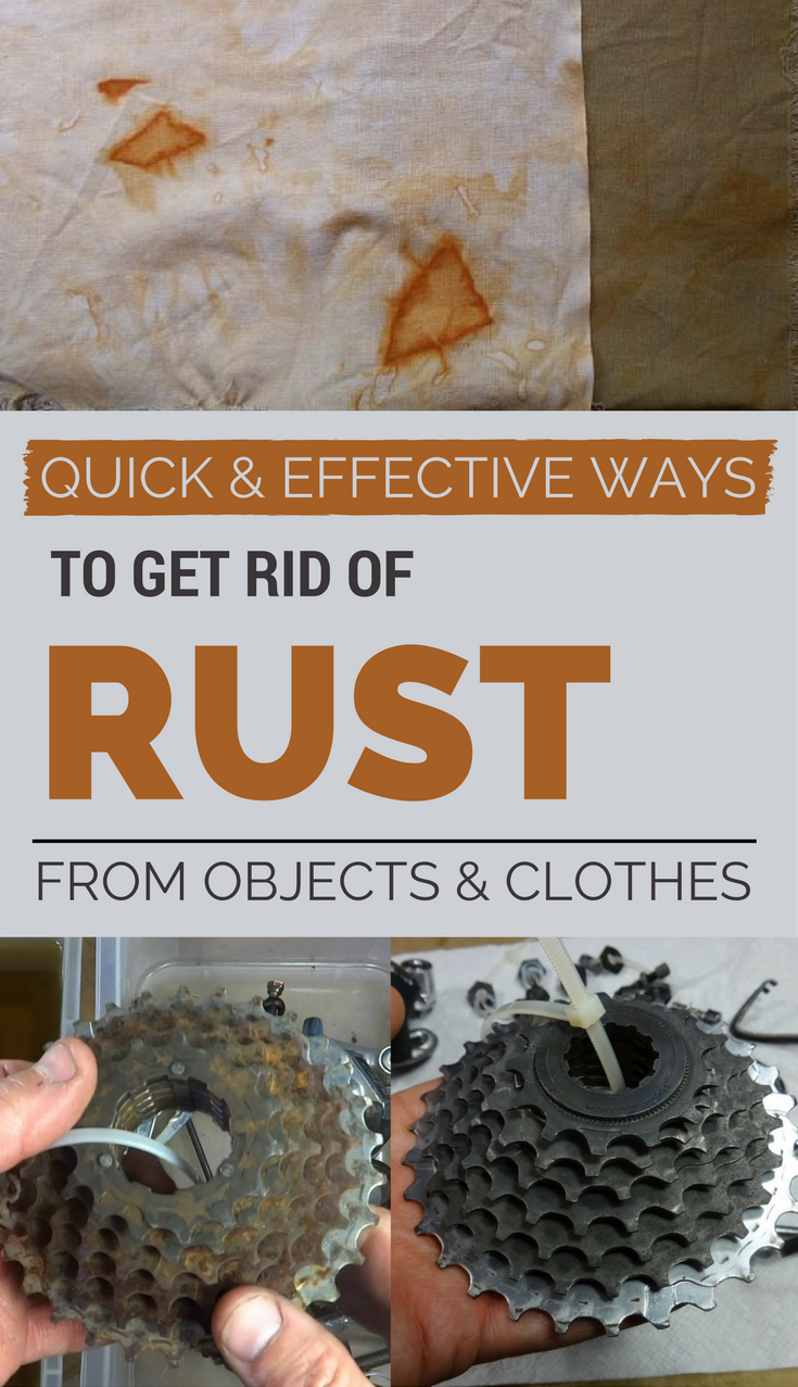 Quick And Effective Ways To Get Rid Of Rust From Objects