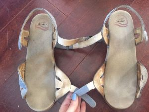 Homemade Cleaner To Remove Grime Build-Up And Foot Marks From Leather Sandals